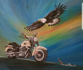 L aigle et la moto