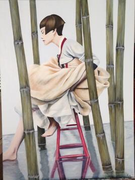 Jeune femme portant le Hanbok
