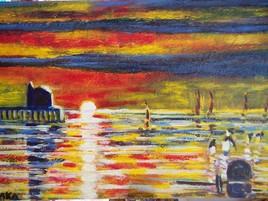 mer du nord sunset (BAKA 2015