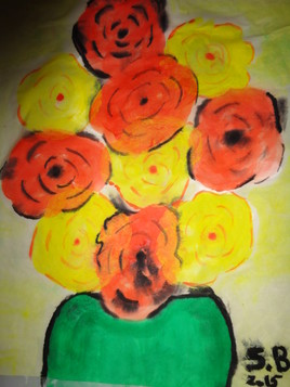 Bouquet jaune et orange par S.B. - 2015