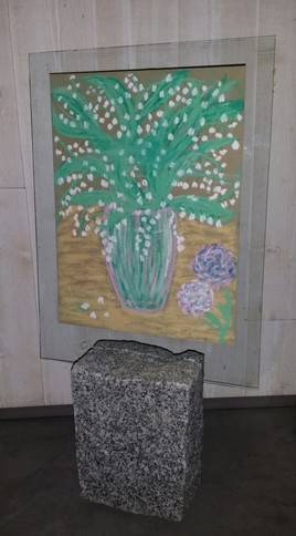 pastel  sur granit