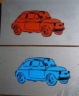 Fiat 500 - orange ou bleue