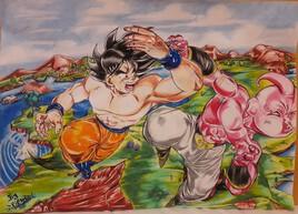 Goku vs kid bou