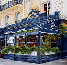 Restaurant l'Escargot rue Montorgeuil Paris