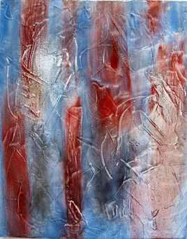 Tableau relief bleau blanc rouge