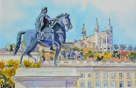 2021-08 Lyon Louis XIV regardant Fourvière