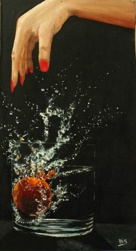 fruit tombant dans l eau