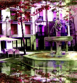 Pink Fountain.(Ceret)