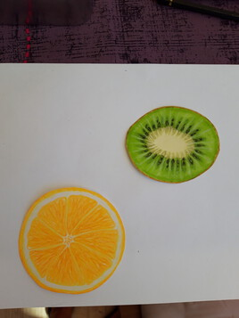 Fruits  au crayons