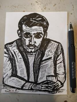 Gil au stylo