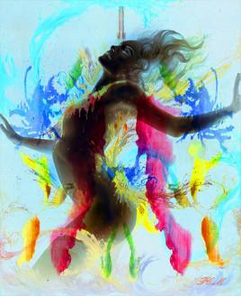 pot de peinture couleur femme