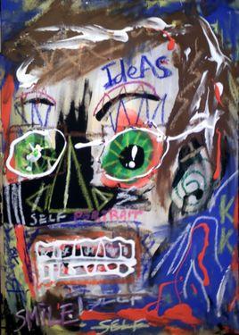 """""""Self portrait à la Basquiat"""""""