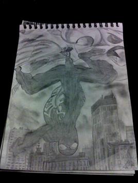 L'homme araignée la nuit