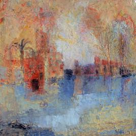 Paysage oranger