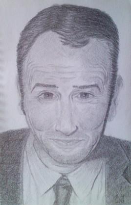 Dessin Portrait Jean Dujardin