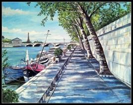 Paris bord de seine, quai des Tuileries