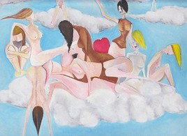 Girls in the cloud