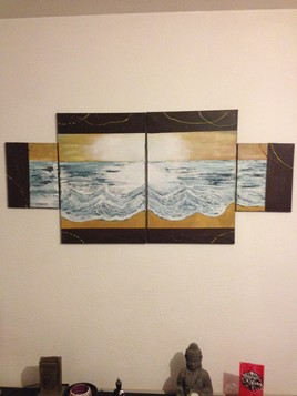 """"""" L ' eau delà des vagues """""""