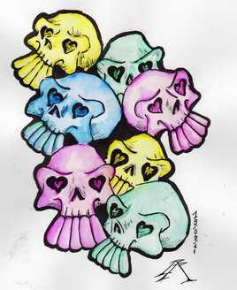 téte de mort couleur