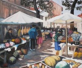 Le marché aux fleurs de St Jean de Luz