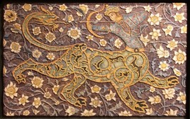 Mosaico esfinge. med: 85x53x3 cm.