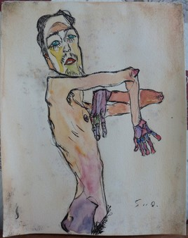 Reproduction d'une reproduction d'Egon Schiele