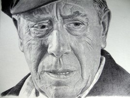 Dessin Fernandel,portrait au stylo à bille