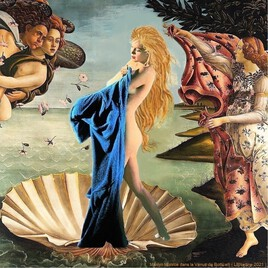 Marilyn re-revisite la Vénus de Botticelli  :) un clin d'oeil à Rathor ! :)