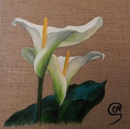 Fleurs à l'acrylique - Arums