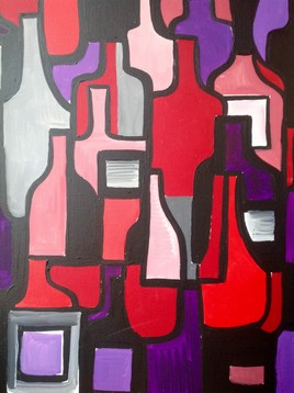 Collection Bouteilles vin rouge