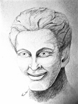 Portrait Homme souriant / Drawing : a smiling man