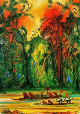 Pirogue sur l'Amazone