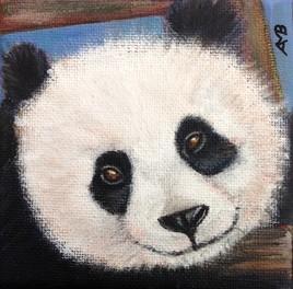 Panda souriant