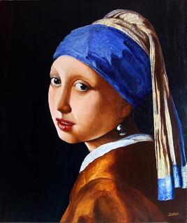 la jeune fille à la perle ( copie Vermeer )