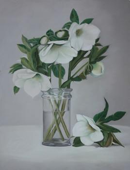 Bouquet d'hellébores.