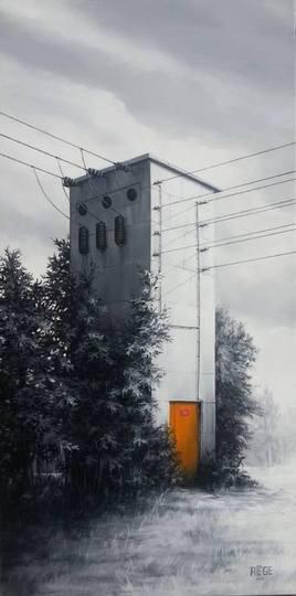 """""""La porte orange du vieux transformateur"""""""