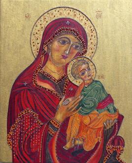 Marie vierge de la Passion avec Jésus
