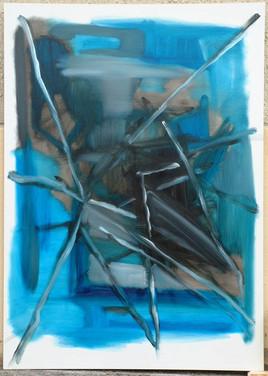 Abstrait dans le bleu