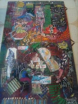peinture mixte