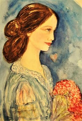 jeune femme au bouquet