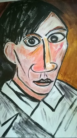Autoportrait de Picasso (reproduction)