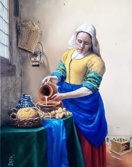 """""""La laitière"""" - copie d'après Vermeer -"""