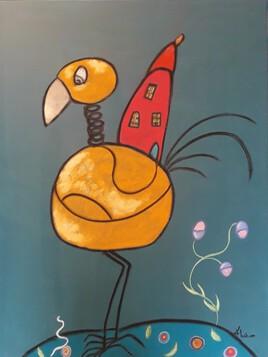 L'oiseau qui portait sa maison sur le dos