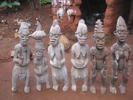 Six oeuvre d'art dAfrique/ Bénin