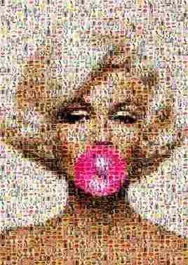Maryline Art Bubble gum mosaique