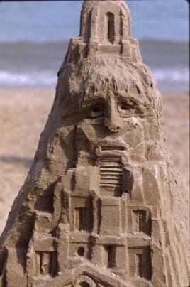 Châteaux de sable : tête